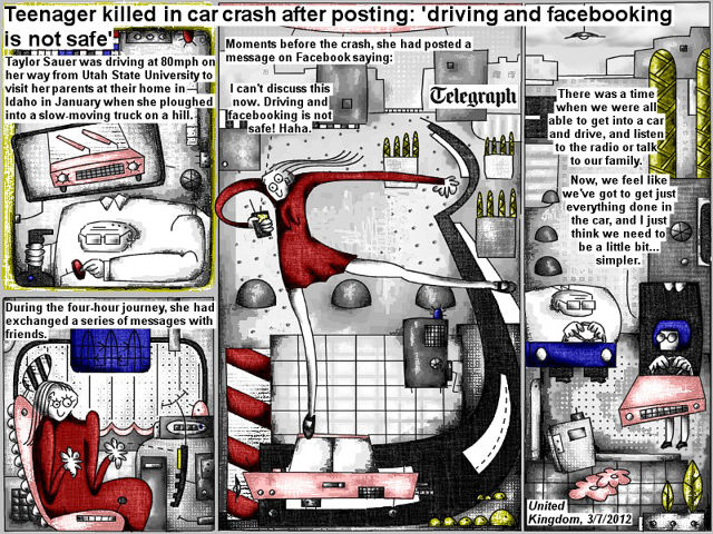 Bob Schroeder | Tenager killed in car crash after posting | 'driving and facebooking is not safe' | Moments before the crash, she had posted a message on Facebook saying: I can't discuss this now. Driving and facebooking is not safe! Haha. There was a time when we were all able to get into a car and drive, and listen to the radio or talk to our family. Now, we feel like we've got to get just everything done in the car, and I just think we need to be a little bit … simpler.