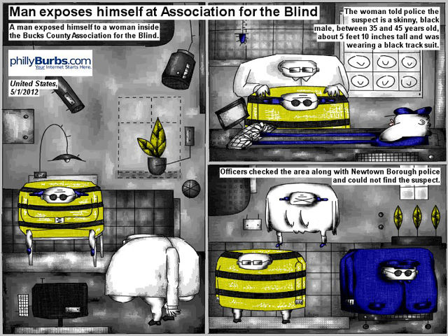 Bob Schroeder | Man exposes himself | Man exposes himself at Association for the blind