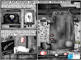 Bob Schroeder | German bank employee naps on keyboard, transfers millions | German bank employee naps on keyboard | Preview