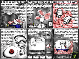 Bob Schroeder | Worm-Infested Weaves from Dead People | Shock as Worm-Infested Weaves from Dead People Find Their Way Into the Market | Preview