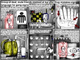 Bob Schroeder | Group of deaf, mute friends stabbed at bar after thug mistakes sign language for gang signs | Preview