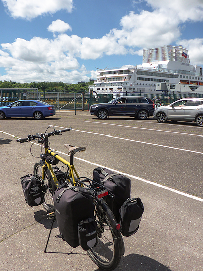 Ferry and bicycle